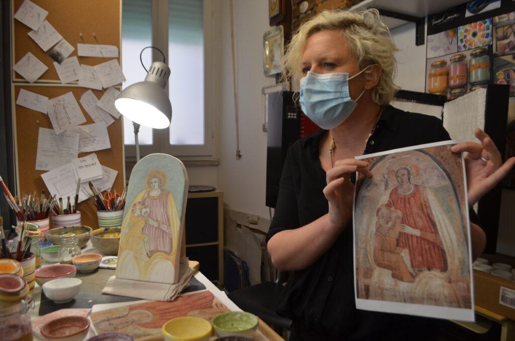 Madonna del Latte su maiolica - Linda Zepponi